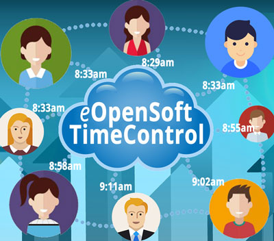 eOpenSoft web-based roster, time and attendance, timesheet