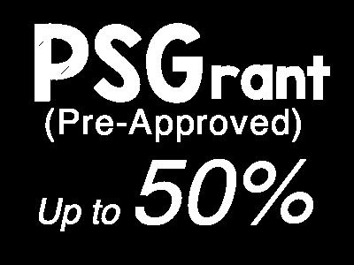 PSG grant 50%